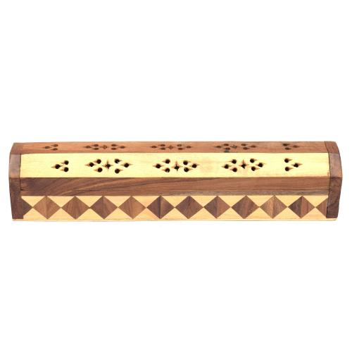 SHEESHAM WOOD INCENSE HOLDER OM