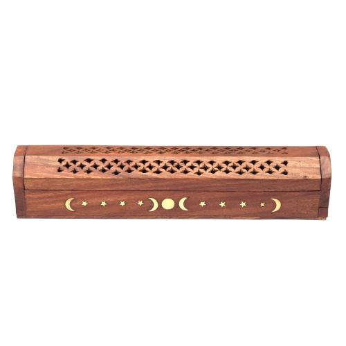 SHEESHAM WOOD INCENSE HOLDER BUDDHA