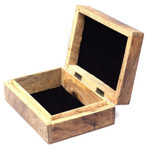 MANGO WOOD JEWELLERY BOX ANTIQUE  LADY DESIGN
