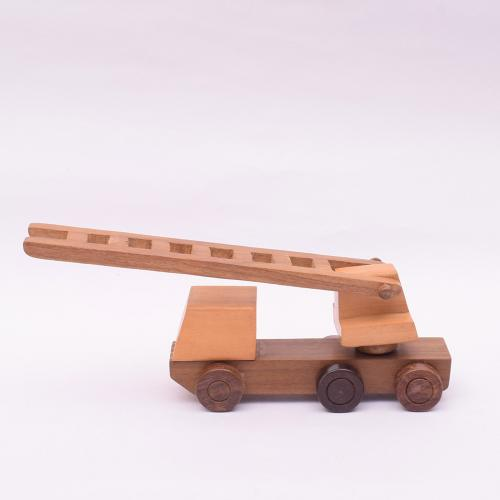 FIRE ENGINE HANDCRAFTED WOODEN TOY