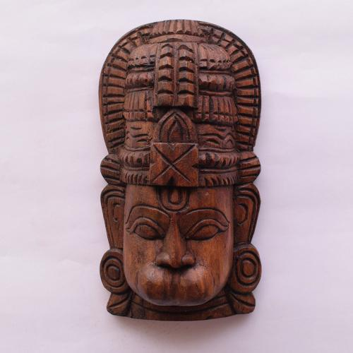 VAAGAI WOOD HANUMAN MASK SCULPTURES