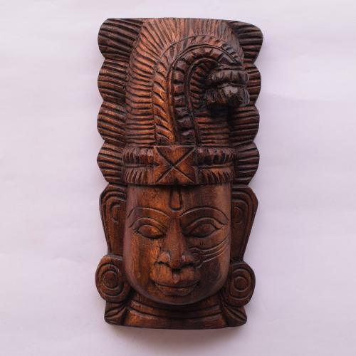 VAAGAI WOOD ANDAL MASK SCULPTURES