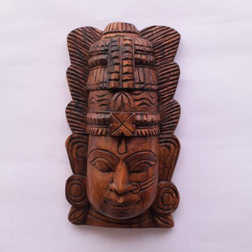 VAAGAI WOOD PARVATHI MASK SCULPTURES
