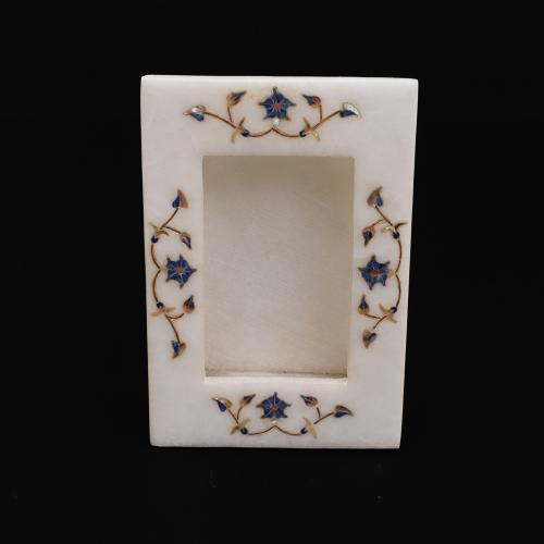 MARBLE PHOTOFRAME WITH  INLAY STONE WORK