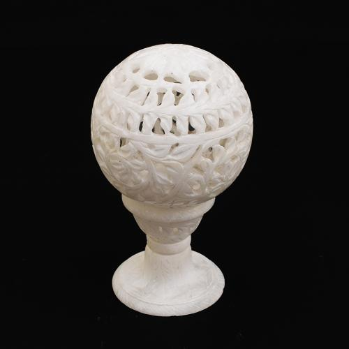 MARBLE CARVED JALLI  BALL