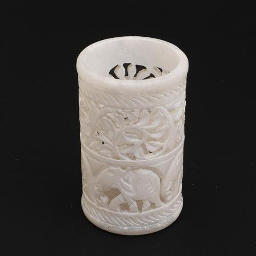 MARBLE  ELEPHANT JALLI  PEN HOLDER