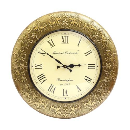 WALL HANGING CLOCK WITH BRASS WORK