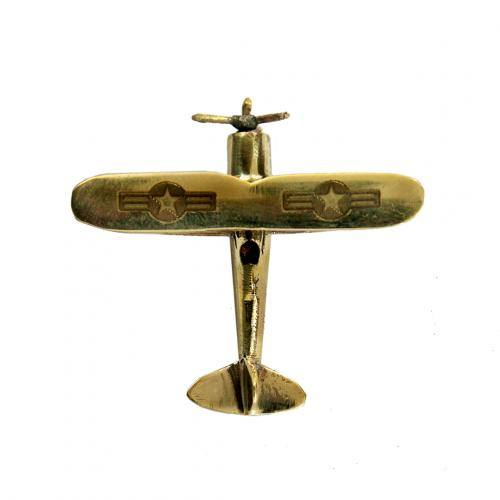AEROPLANE SOLID BRASS MINIATURE TOY