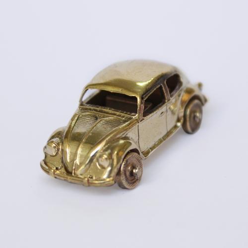 BEETLE CAR BRASS MINIATURE TOY