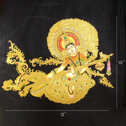 INDONESIA SITA TANJORE PAINTING WORK IN BLOUSE