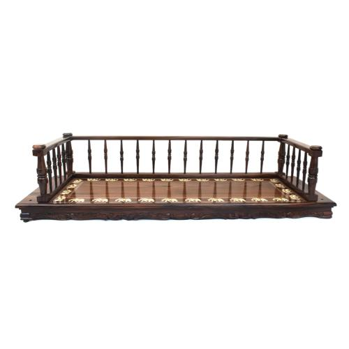 ROSE WOOD JHULA SWING WITH INLAY WORK FOR HOME DECOR