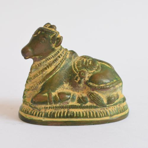 BRASS NANDHI WITH ANTIQUE FINISH
