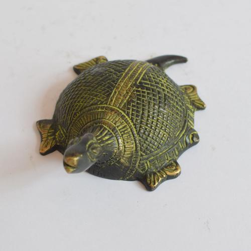 BRASS TORTOISE WITH ANTIQUE FINISH