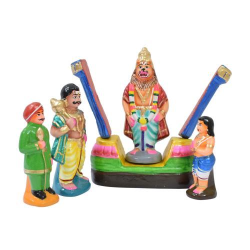 BHAKTHA PRAHALADH SET 4 HANDMADE DUSSERA DOLL GOLU DOLL BOMMALU TARANG HANDICRAFTS