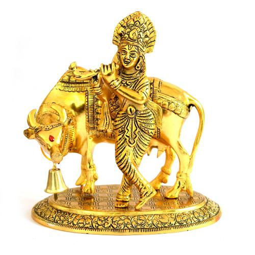 COW KRISHNA WITH BELL