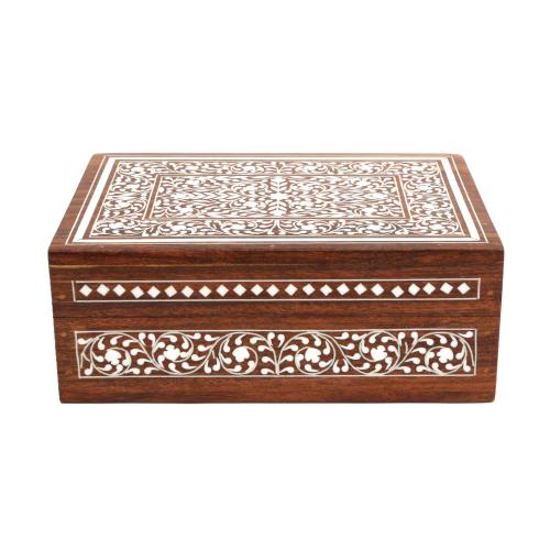 WOODEN BOX WITH INLAY WORK