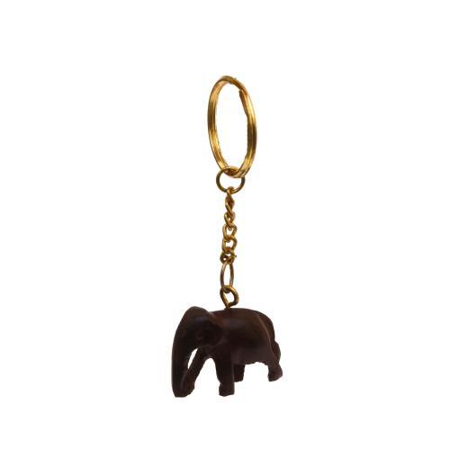 WOODEN ELEPHANT KEY CHAIN