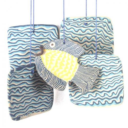 FISH AND WAVE CHIME