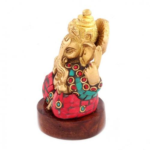 GANESHA SITTING ON RD WDN BASE