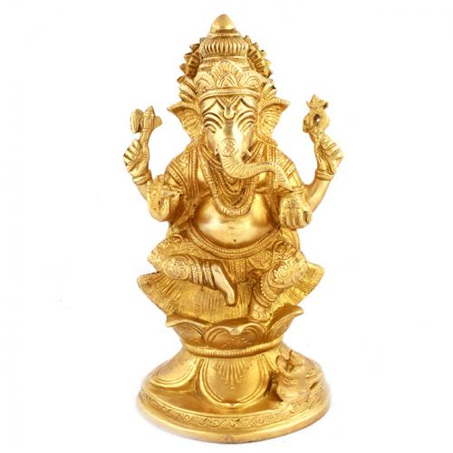 GANESHA SITTING LOTUS