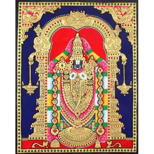 22ct Gold Lord Balaji Venkatachalapathy Tanjore Painting